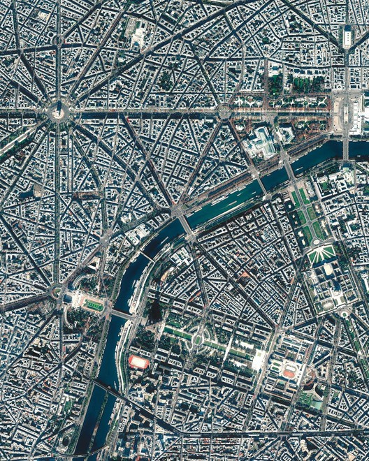 Aerial view of Paris. Image Courtesy of Daily Overview