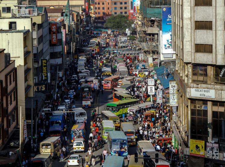 © Нина Сток с сайта Pixabay.  Вид с улицы Найроби, Кения