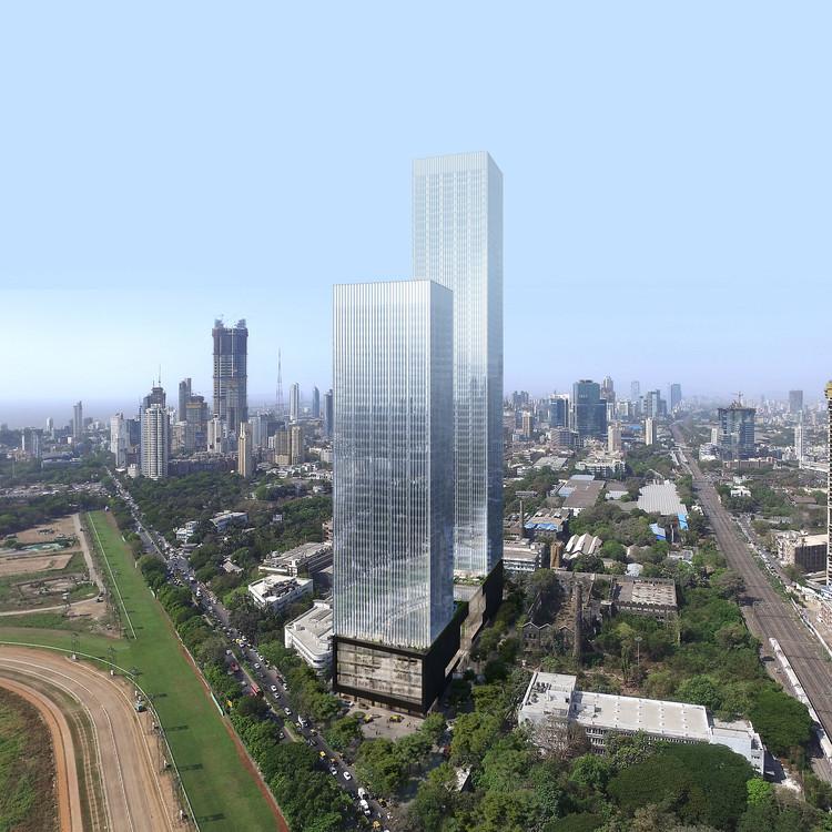 OMA/Iyad Alsaka comienza la construcción de Prestige Liberty Towers, un complejo de uso mixto en Mumbai, India, Cortesía de OMA