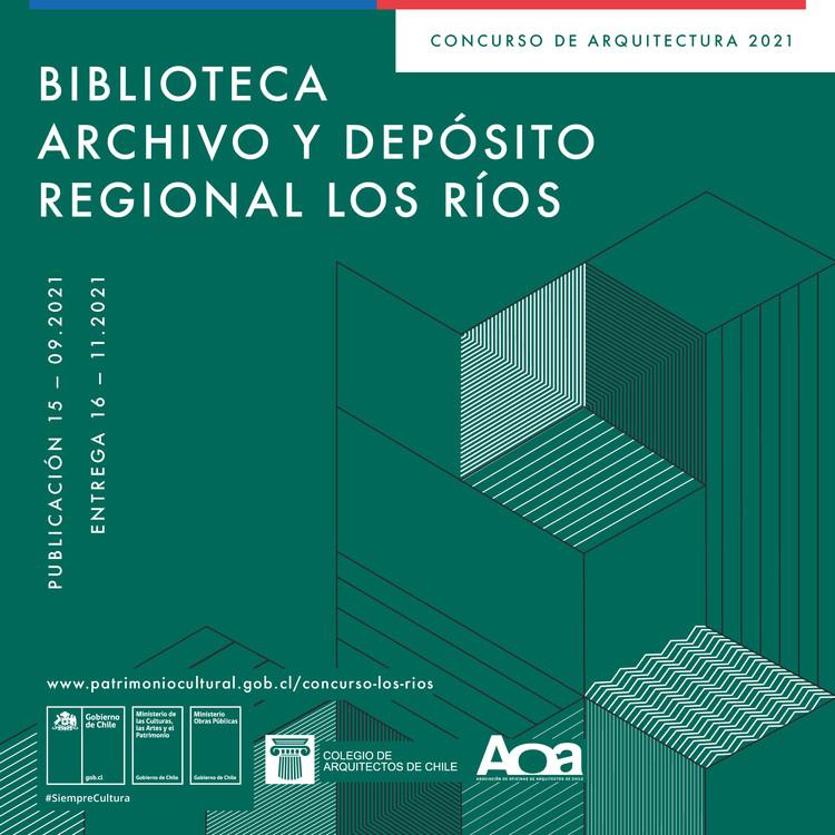 Concurso de Anteproyectos de Arquitectura: Biblioteca, Archivo y Depósitos Regionales de los Ríos, Valdivia, Cortesía de SERPAT