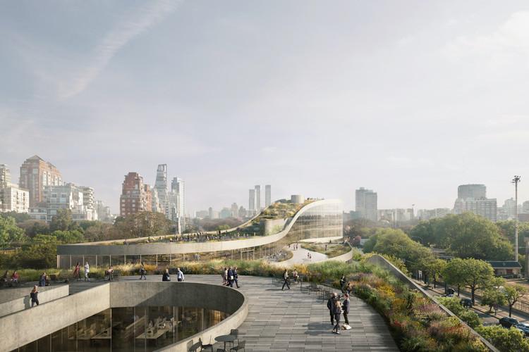 Paseo Gigena en Buenos Aires: ODA transformará un antiguo estacionamiento en un proyecto de uso mixto con parque público, Paseo Gigena, diseñado por ODA. Image Cortesía de ODA