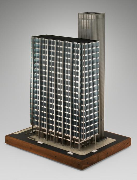 Модель для внутреннего стального строительства, предоставленная Райерсону Таллу.  Изображение предоставлено SOM