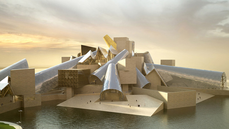 The Long-delayed Guggenheim Abu Dhabi Will Open in 2026, A rendering of the multifaceted Guggenheim Abu Dhabi . Image Courtesy of Gehry Partners/The Guggenheim Foundation