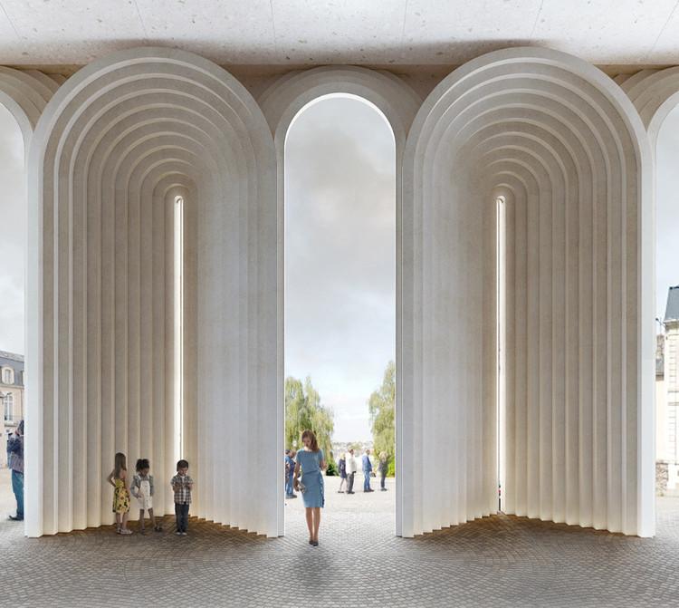 Kengo Kuma presenta una intervención contemporánea de arcos para preservar la catedral histórica de Angers en Francia, Cortesía de Kengo Kuma & Associates