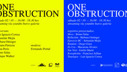 """Evento POP-UP: """"One Obstruction"""""""