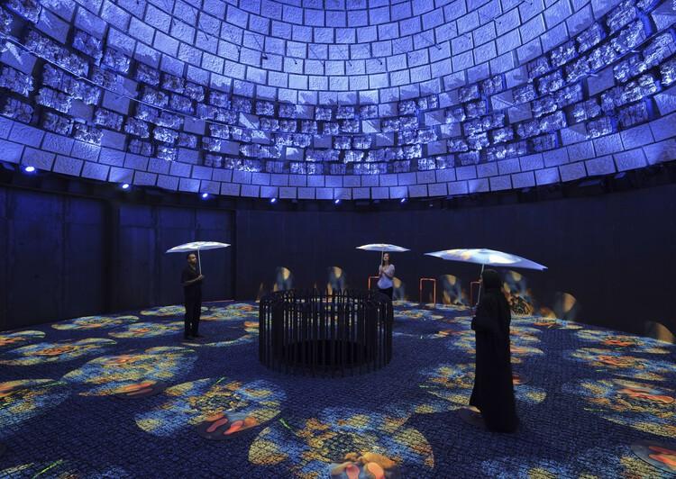 Pavilhão da Holanda na Expo Dubai 2020 cria um novo bioma temporário no deserto, © Jeroen Musch