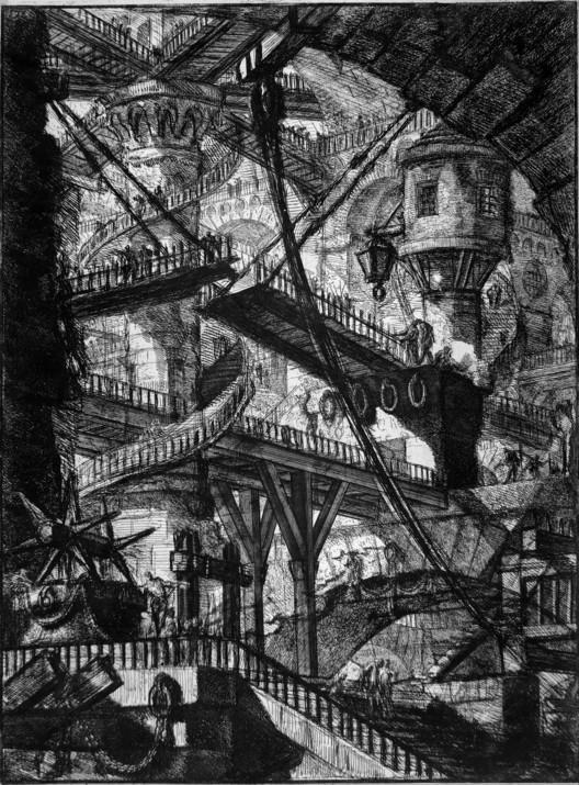 """Репродукция из серии """"Carceri"""" Джованни Баттиста Пиранези.  Всеобщее достояние."""