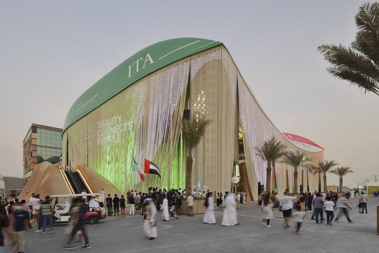 Carlo Ratti Associati e Italo Rota experimentan con la economía circular en el pabellón italiano de la Expo Dubái 2020, © Michele Nastasi