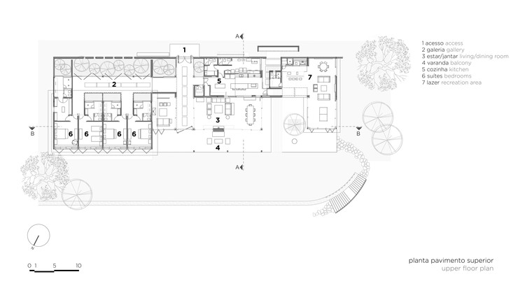 План верхнего этажа
