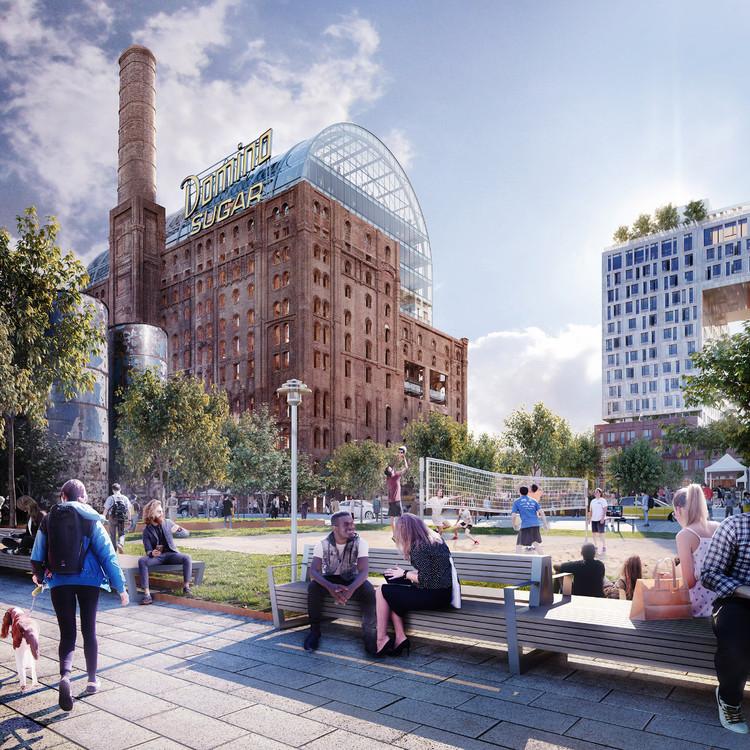 Преобразование сахарного завода Domino - Бруклин, Нью-Йорк.  Изображение через Aether Images