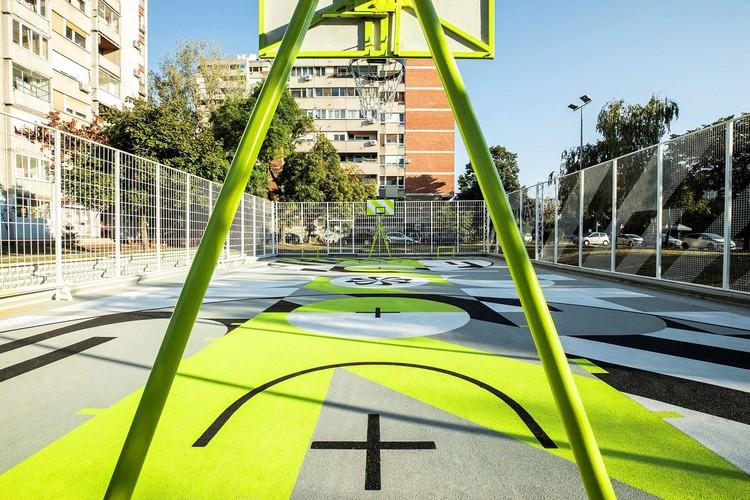 Lapangan Basket Beograd Baru Nike Dirancang untuk Upcycling, © Rastko urdić