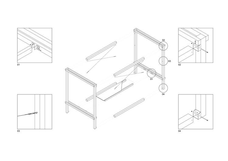 (демонтаж) схема деталей сборки