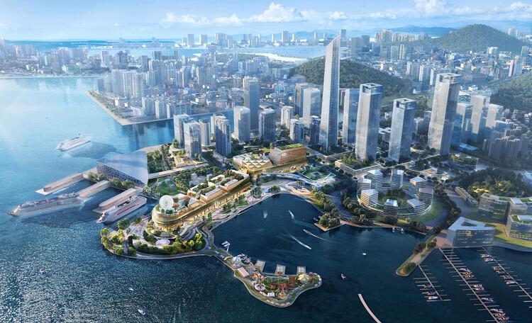 Шэньчжэнь Prince Bay в сотрудничестве с OMA в качестве архитектора дизайна.  Изображение © Рональд Лу и партнеры
