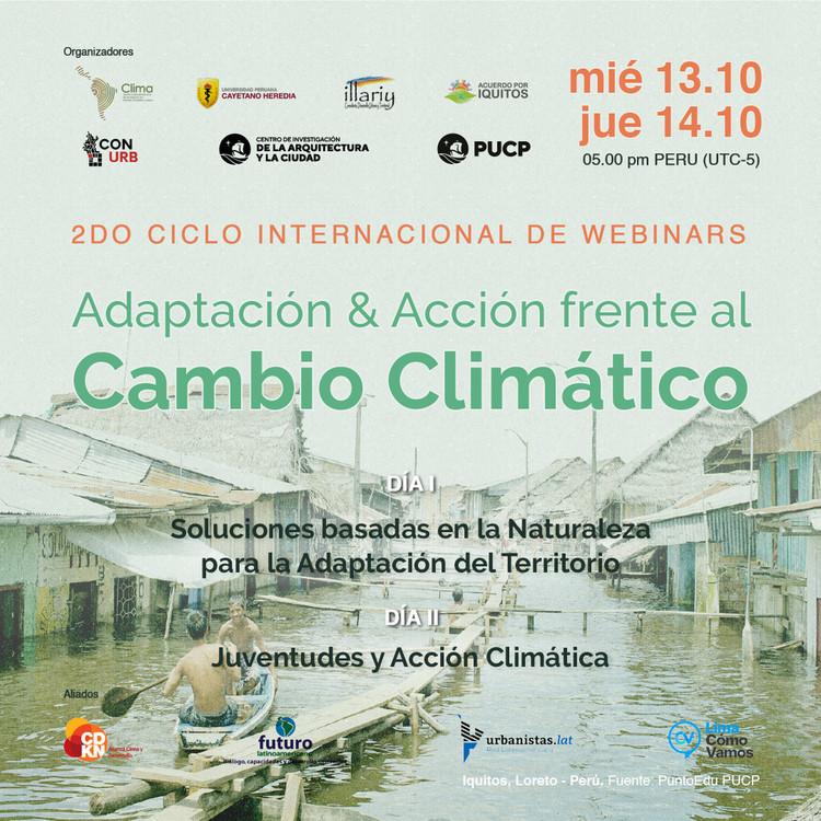 2do Ciclo Internacional de Webinars: Adaptación y Acción frente al Cambio Climático, Afiche principal