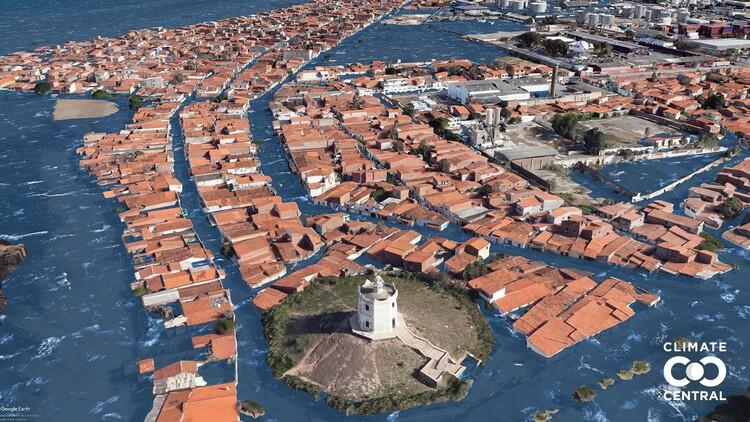 Imagens mostram como o aumento do nível do mar pode afetar as cidades brasileiras, © Climate Central