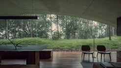 Casa de la colina frente a la cañada / HW Studio